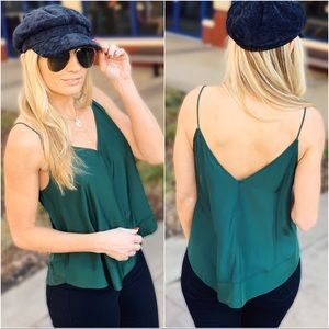 SO SIMPLE CAMI-HUNTER GREEN